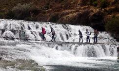 Puente colgante en Huancaya